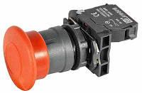 Кнопка грибок, с фиксацией, возврат-назад LA110-B5-AТ42 NC, 1 НЗ