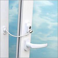Защита окна от взлома с тросом