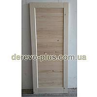 Двері з масиву дерева 80см (глухі) f_4180