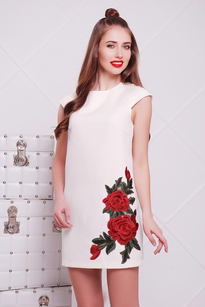 """Платье с декоративной вышивкой  """"Роза"""""""