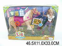Лошадь с куклой и аксесс., звук, в кор. 46х11х33 /12/