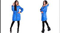 Пальто,плащевка + синтепон плотность-300 + натуральный мех ЕНОТ + нашивка moncler на рукаве 3 цветаЕС№ 424-432