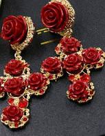 Серьги  розы в стиле Dolce&Gabbana