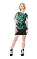Коктейльное зеленое платье Diana Fon Furstenberg