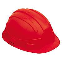 Каска строительная защитная OPAL, красная