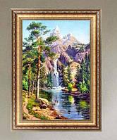 Горный водопад (полная выкладка 80%) 31*22 см