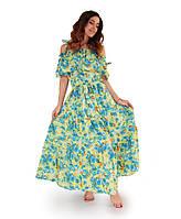 Платье летнее Лимонно-зеленое ТМ Прованс