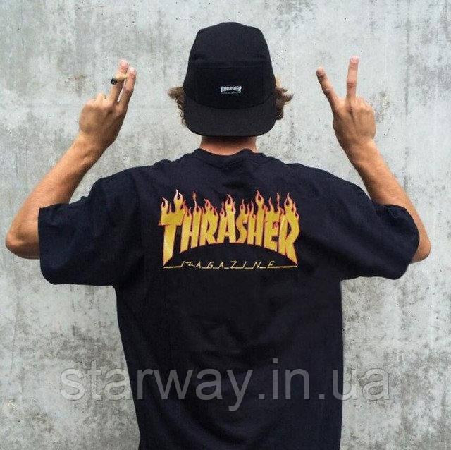 Футболка   Thrasher logo five