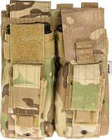 Подсумок Skif Tac для 2-х магазинов АК/AR, 2-х пистолетных ц:multicam