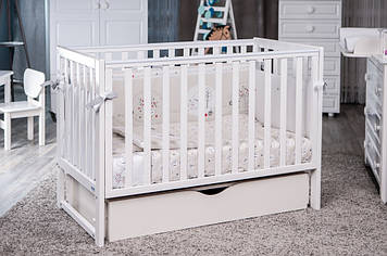 Кроватка Twins Pinocchio маятник/ящик белый