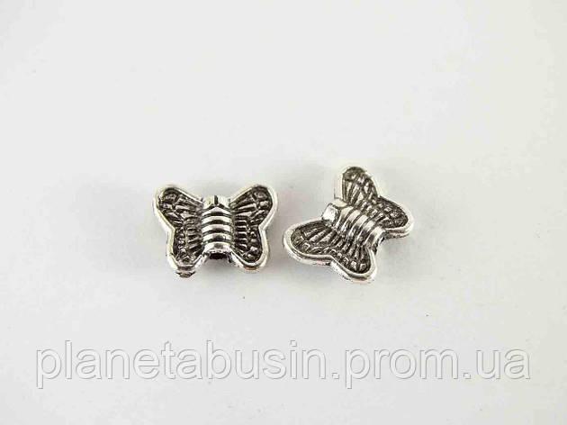 Бусины Бабочки 10шт, размер 10х7мм, отверстие 1мм, фото 2