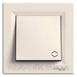 Перемикач 1-клавішний вимикач прохідний), крем, Sсhneider Electric Asfora Шнайдер електрик Асфора