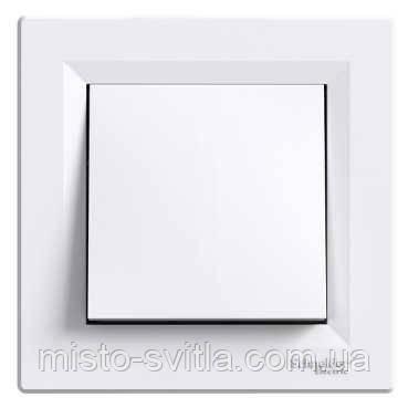 Выключатель 1-клавишный кнопочный, белый, Sсhneider Electric Asfora Шнайдер электрик Асфора