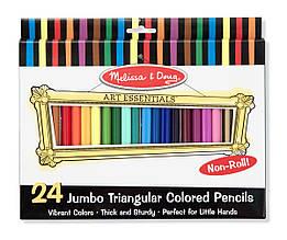 Кольорові олівці 24 кольору Melissa&Doug