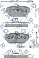 Колодки тормозные передние FOMAR 687781