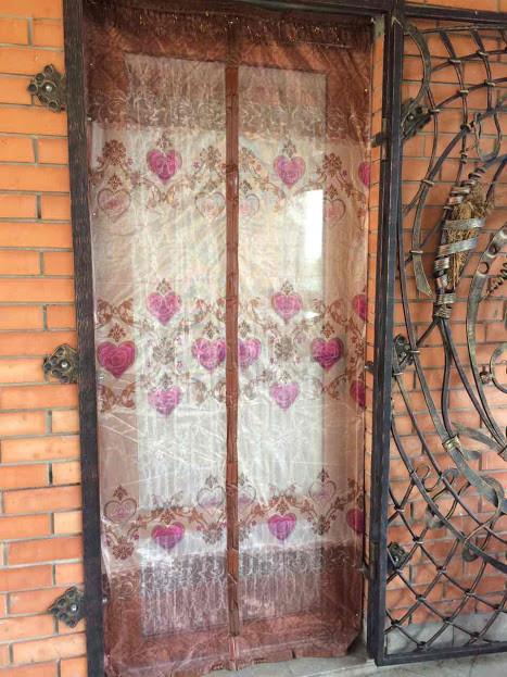 Москитная Сетка на дверь коричневая с рисунком высшего качества
