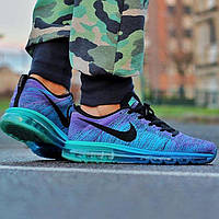 "Мужские кроссовки Nike Air Max Flyknit ""Hyper Grape/Photo Blue/Hyper Jade/Black"""