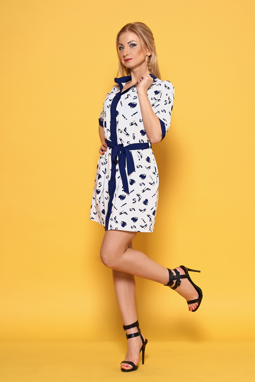 Практичное и весьма комфортное платье-рубашка р. 42,44,46,48,50