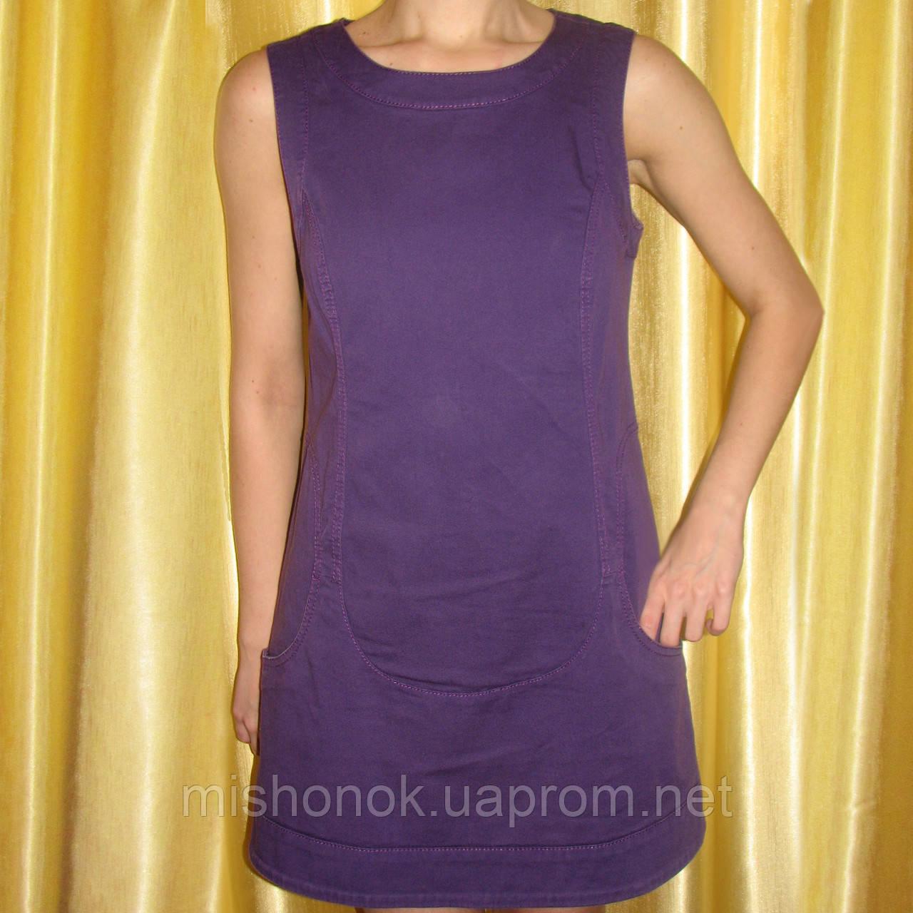 Сарафан платье коттоновое Sisley, р. 44 тонкий джинс
