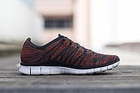 Кроссовки Nike Free Flyknit NSW – Anthracite / Laser Orange
