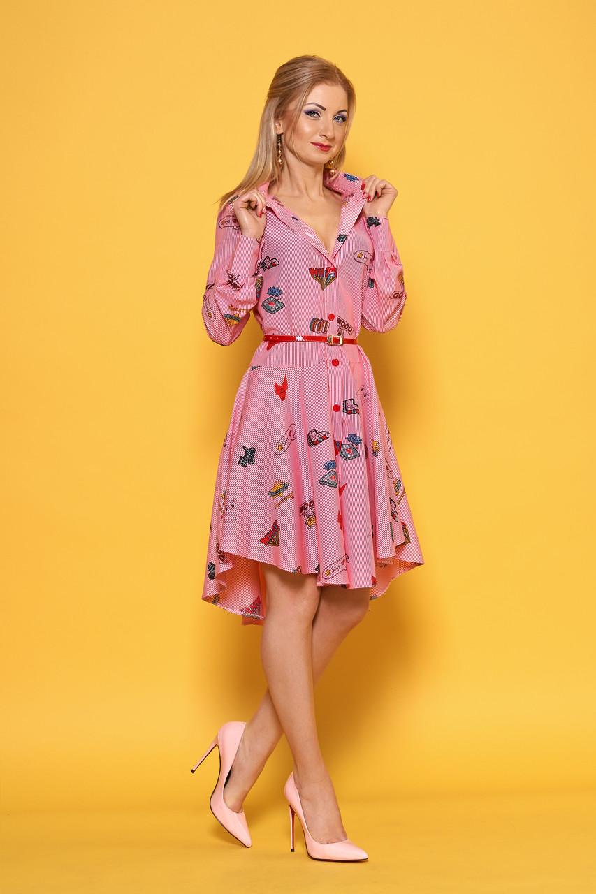 Стильное платье рубашечного типа кроя р. 42,44,46,48,50