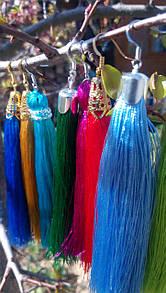Эксклюзивные серьги изготовленные под цвет вышивки или ткани Вашего заказа