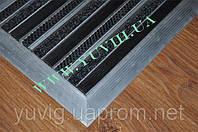Придверная решетка Лен резина+щетка 900х600мм. Наружное обрамление