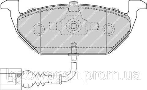 Колодки тормозные передние FERODO FDB1635