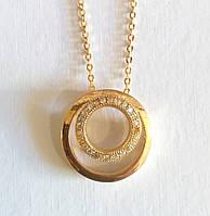 Цепочка + с подвеской, Золотое солнце, цепочка 45- 50 см регулируется