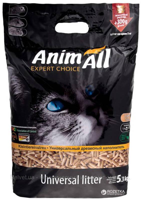 AnimАll (Энимал) древесный наполнитель 5.3 кг (17 л)