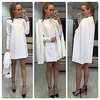 Костюм женский очень красивый!!!кейап+ платье , ткань диагональ, МНОГО ЦВЕТОВ , фото реальные СТ № 3777