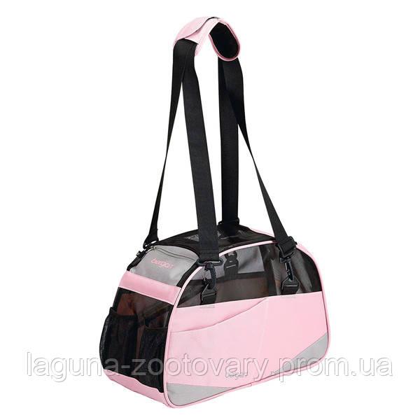 Bergan Voyager Comfort Carrier сумка переноска 43х30х20 для собак и котов, S, розовый