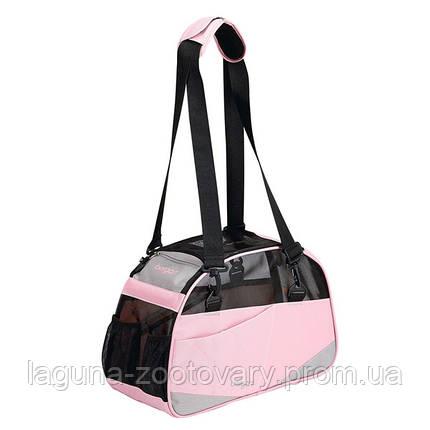 Bergan Voyager Comfort Carrier сумка переноска 43х30х20 для собак и котов, S, розовый, фото 2