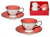Сервиз чайный 4 пр. розовый коралл SNT 1656