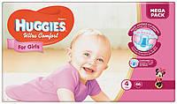 Подгузники Huggies Ultra Comfort для девочек 4 (8-14 кг) 66 шт.