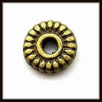 Спейсер, рондель метал., бронза (диам. 0,5 см) 60 шт в уп.