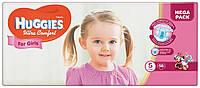 Подгузники Huggies Ultra Comfort для девочек 5 (12-22 кг) 56 шт.