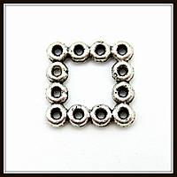 Спейсер, рондель метал., серебро (1,1*1,1 см) 25 шт в уп.