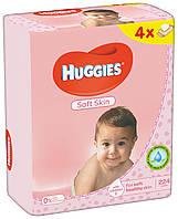 Салфетки влажные Huggies Soft Skin Quad 56 х 4 шт.