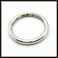 Спейсер, рондель метал., серебро (диам. 1,4 см) 25 шт в уп.
