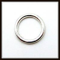 Спейсер, рондель метал., серебро (диам. 1 см) 40 шт в уп.