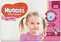 Подгузники Huggies Ultra Comfort 5 Jumbo для девочек 42 шт.