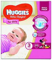 Подгузники Huggies Ultra Comfort 3  для девочек 20 шт.