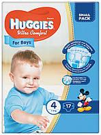 Подгузники Huggies Ultra Comfort 4  для мальчиков 17 шт.