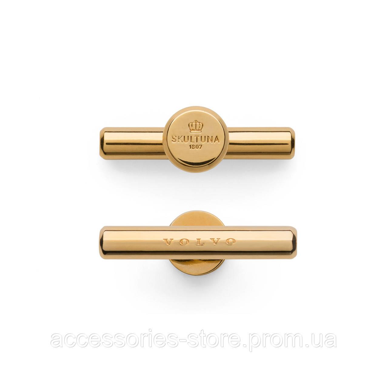 Запонки золотые Volvo, Cufflinks Gold  by Skultuna