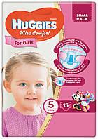 Подгузники Huggies Ultra Comfort 5 для девочек 15 шт.