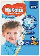 Подгузники Huggies Ultra Comfort 5 для мальчиков 15 шт.