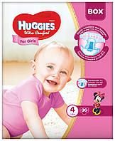Подгузники Huggies Ultra Comfort Box 4 для девочек 96 шт.