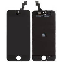 Дисплей iPhone 5S, iPhone SE, чёрный, с сенсорным экраном, с рамкой, high-copy
