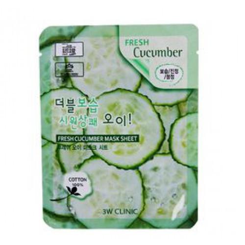 Тканевая маска 3W CLINIC Fresh Mask Sheet Cucumber